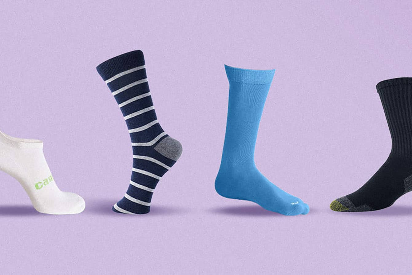 Grey dress socks for men ribbed 6-pack breathable suit socks of combed cotton spring and autumn
