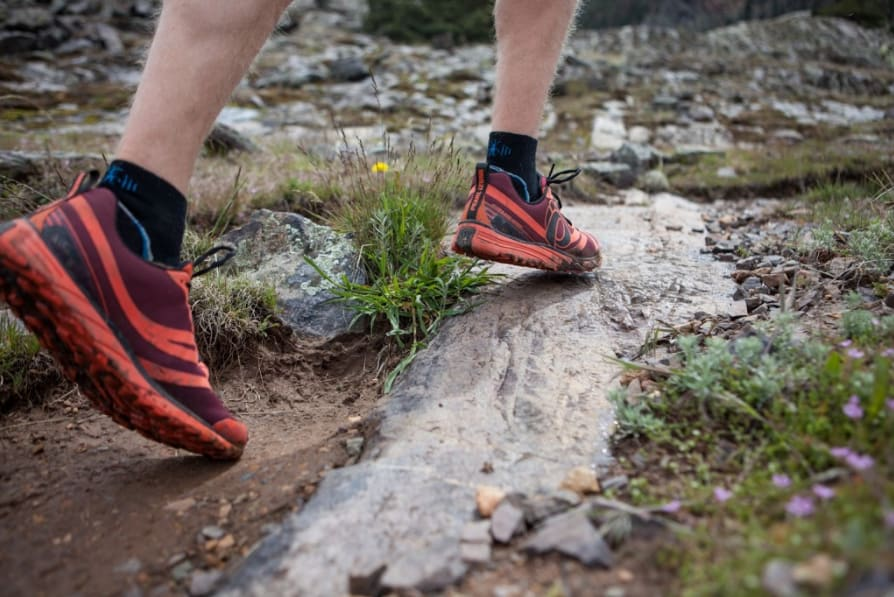 Trail running shoes with good foot cushioning