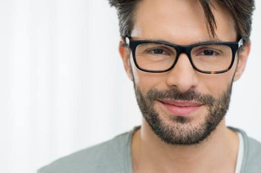 bearded man with an eyeglasses