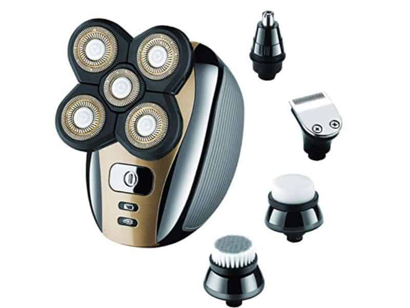 Electric Razor for Men Head Shaver for Bald Men 5 in 1 Grooming Kit by Roziapro
