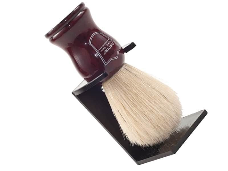 Parker Deluxe Boar Bristle Shaving Brush with Rosewood Handle and Stand