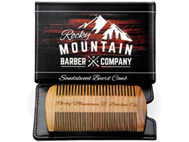 Rocky Mountain Barber Company Sandalwood Beard Comb