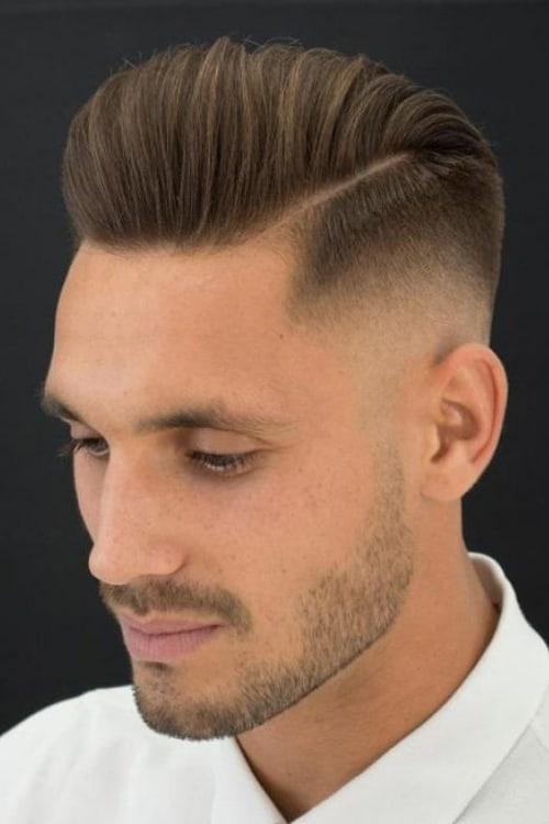 Man with Sleek Short Faded Pomp