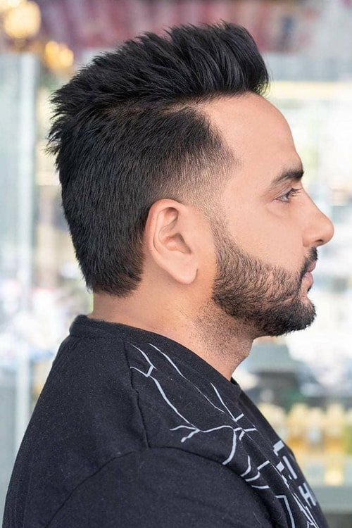 Man with  Faux hawk hairstyle