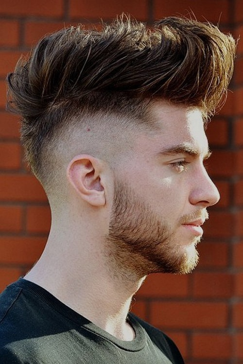 Man with Short Faded Mohawk
