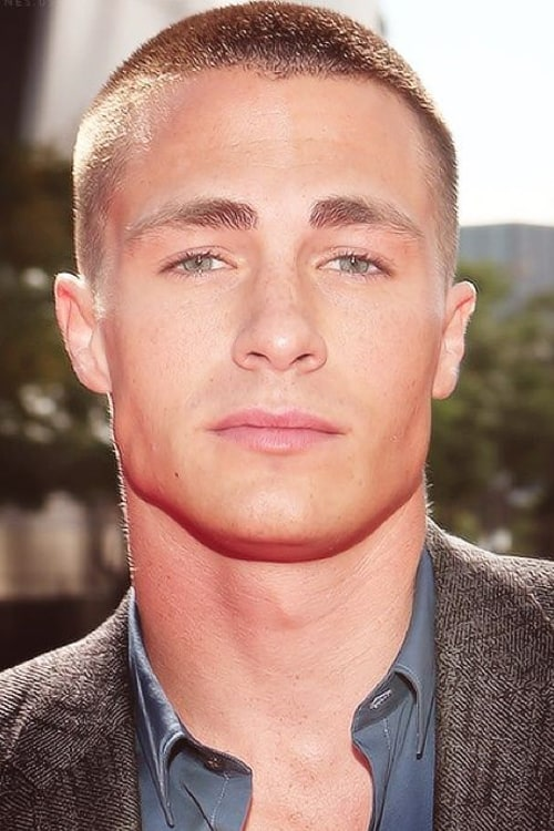 Man with buzz cut hairstyle