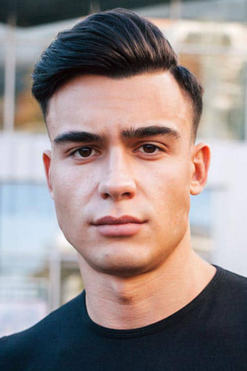 Man with Short Taper and Neat Side Part