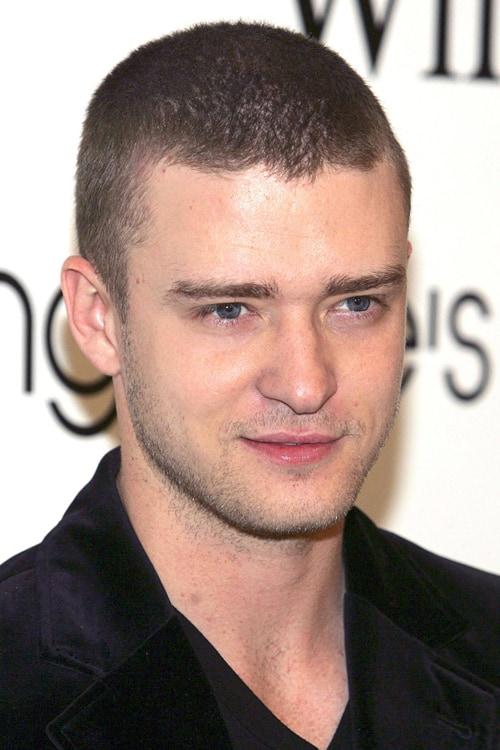 Justin Timberlake with Butch Cut