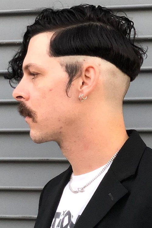 Man with Disconnected Hairstyle