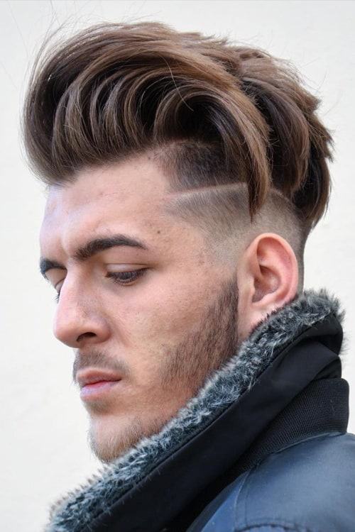 Man with Short Disconnected Undercut