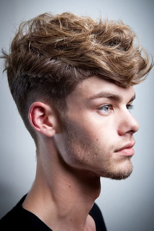 Man with Short Messy Faux Hawk hairstyle