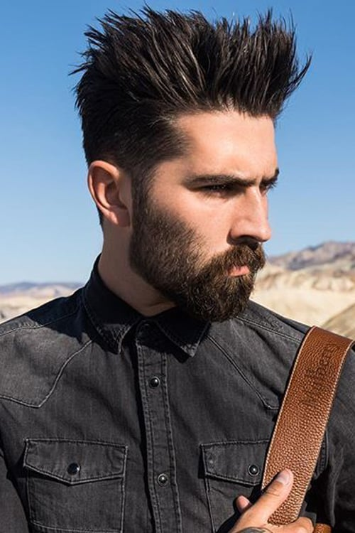 Man with Short Vertical Spikes hairstyle