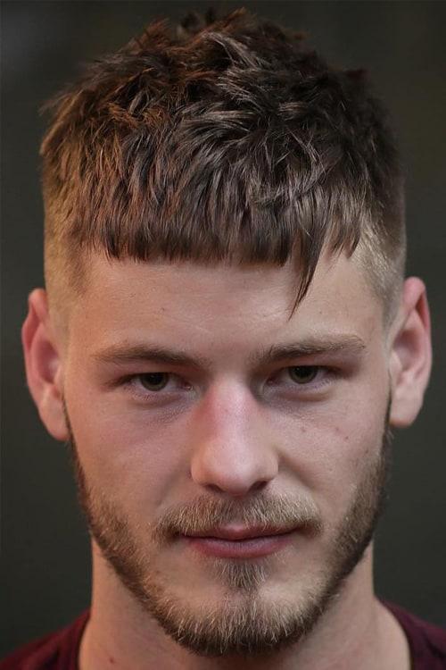 Man with Short Fringe Cut