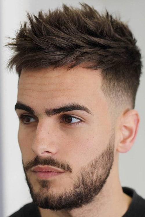man with textured top and temple hairstyle
