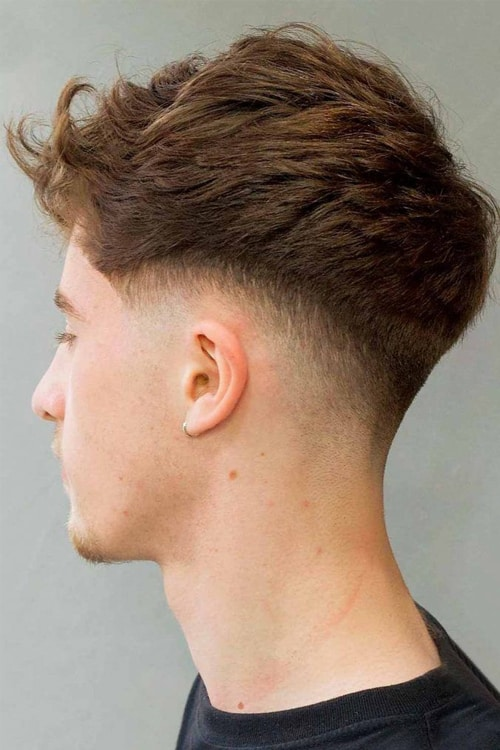 Man with Drop fade hairstyle