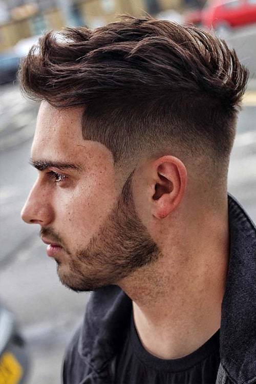 Man with High Undercut Fade w/ Textured Back