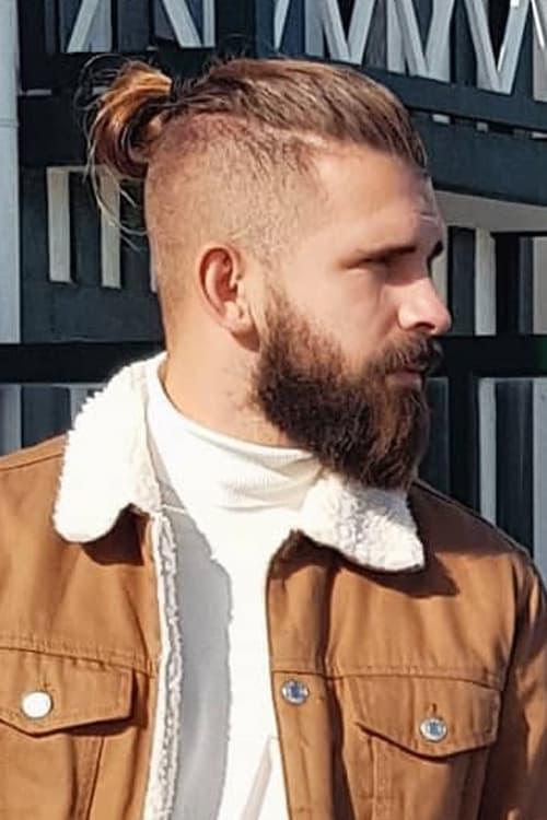 Man with Topknot bun and Undercut