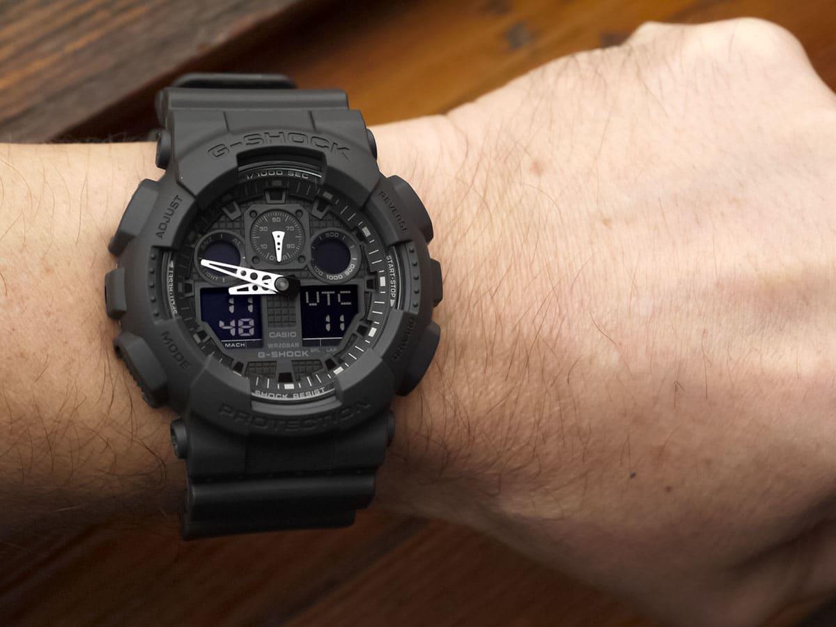 Black G-shock waterproof watch