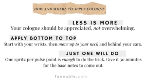 how and where to apply cologne