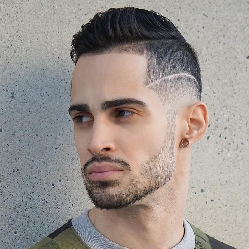 handsome man with side-trim comb over