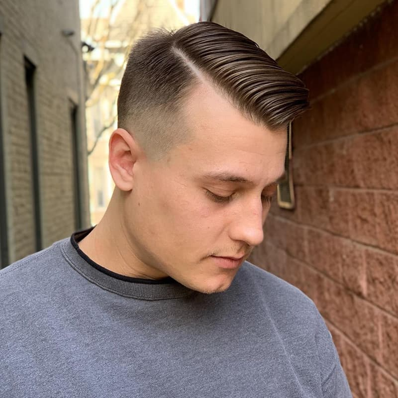 handsome man with side-swept comb over