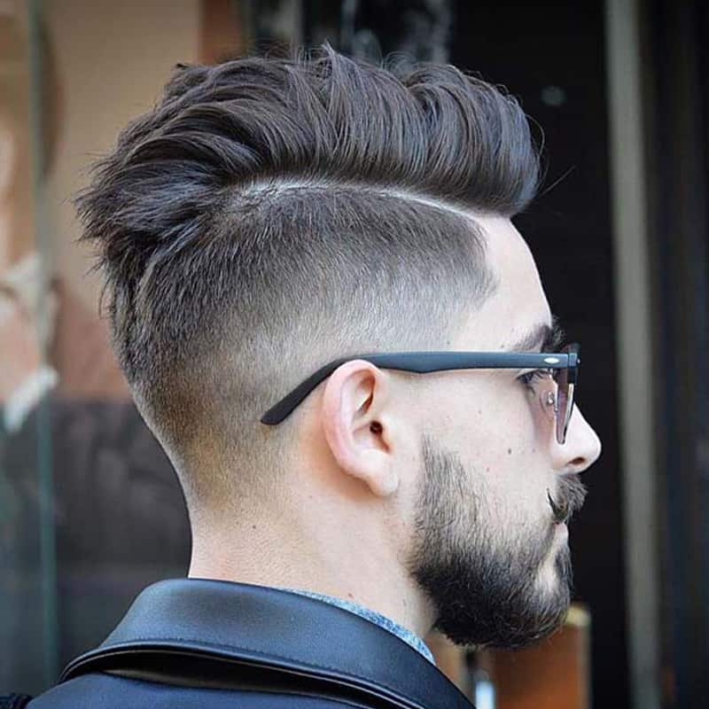 Spiky Comb Over w/ Mohawk Fade