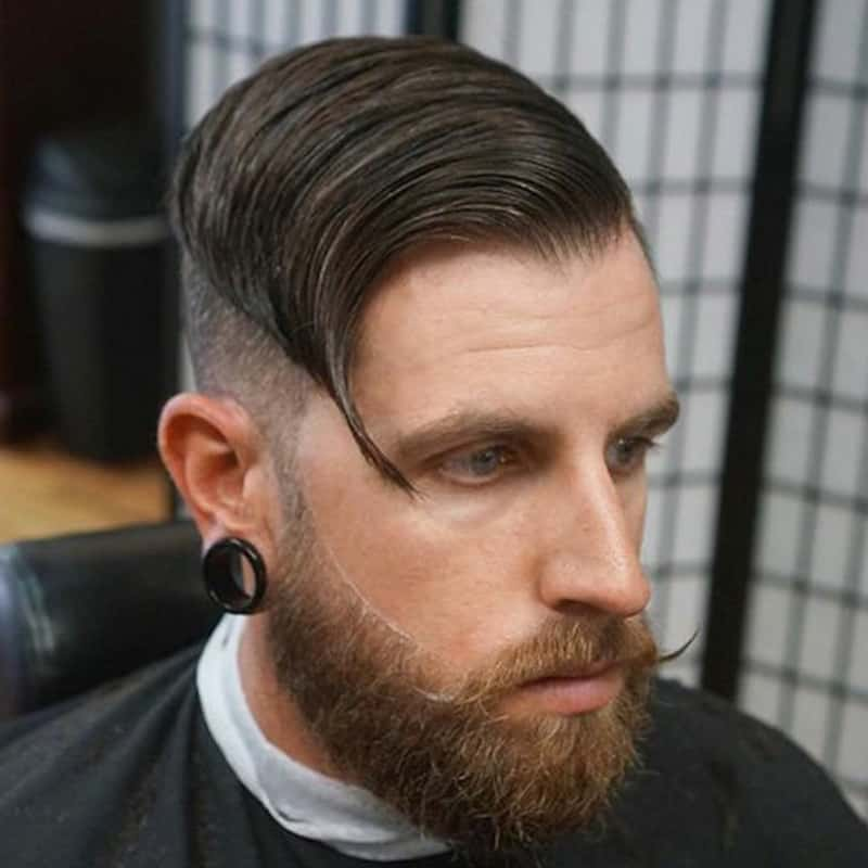 handsome man with long comb over