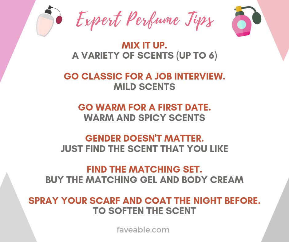 Expert perfume tips