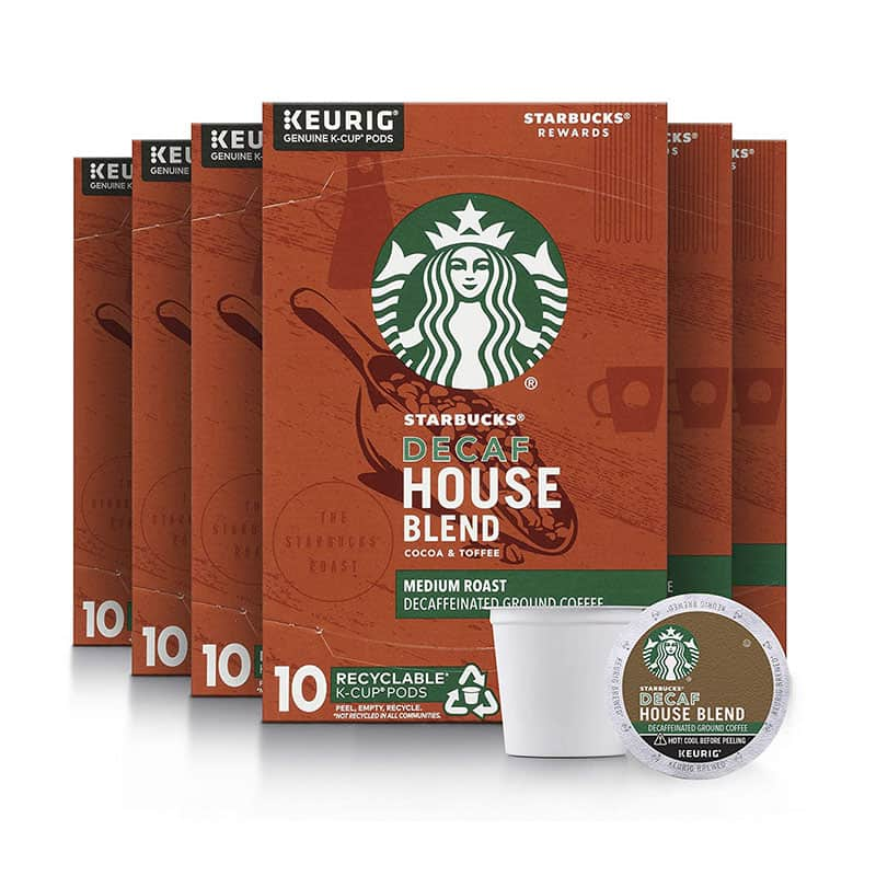 Starbucks Decaf K-Cup Coffee Pods