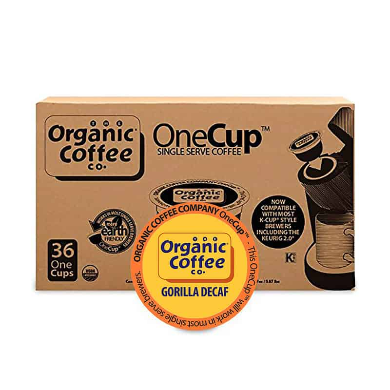 The Organic Coffee Co. OneCup Gorilla Decaf