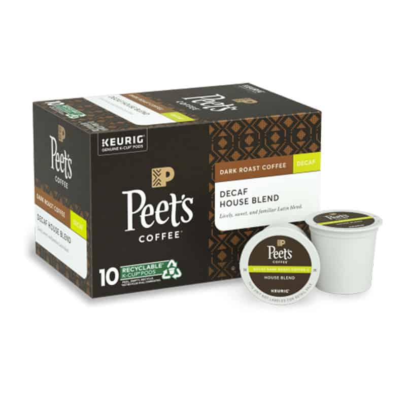 Peet's Coffee Decaf House Blend K-Cup Pods