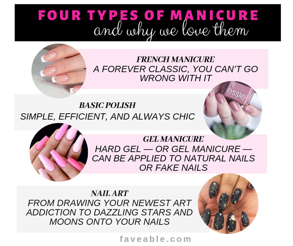 Four types of manicure