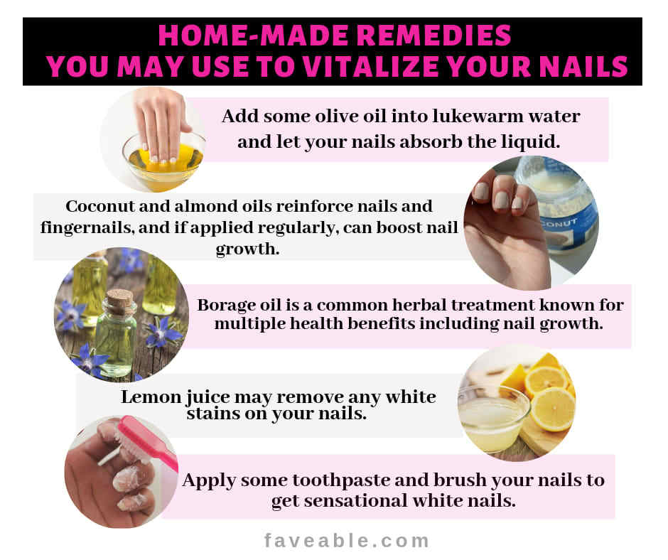 Home-made remedies to vitalize nails