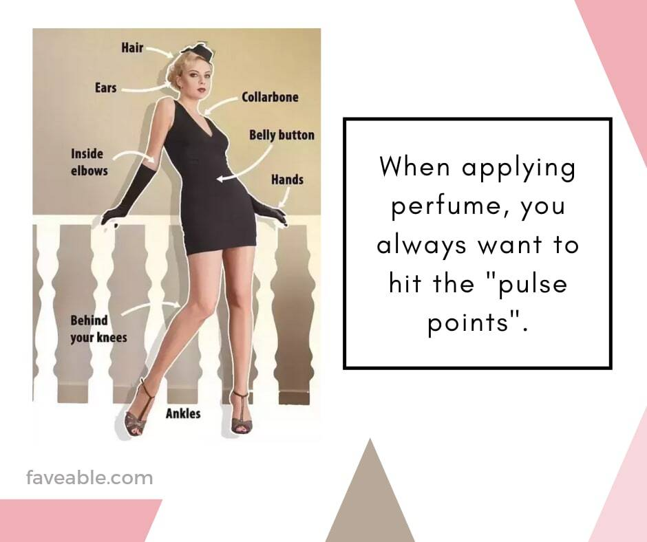 Hit the pulse points when applying perfume