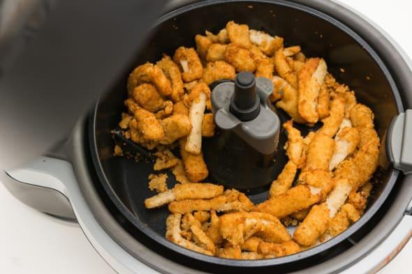 fried food in an air fryer