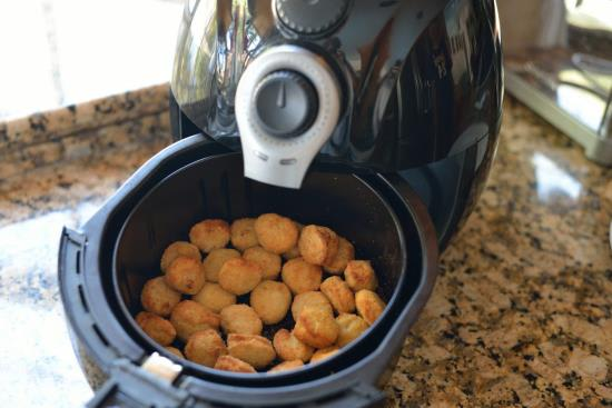 nuggets inside the air fryer