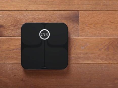 black digital bathroom scale