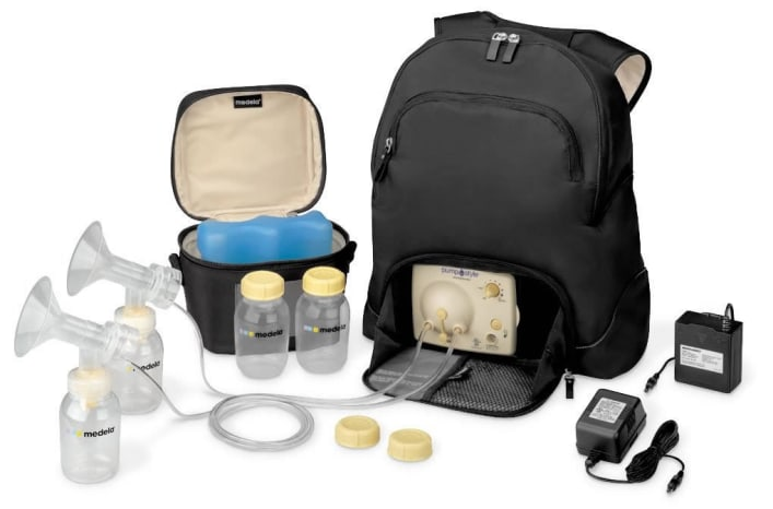 breast pump in a backpack
