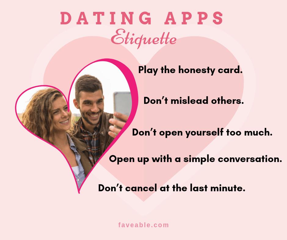dating app etiquette
