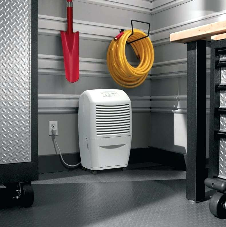 dehumidifier at a storage room