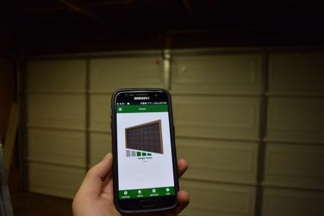 garage door opener using mobile phone