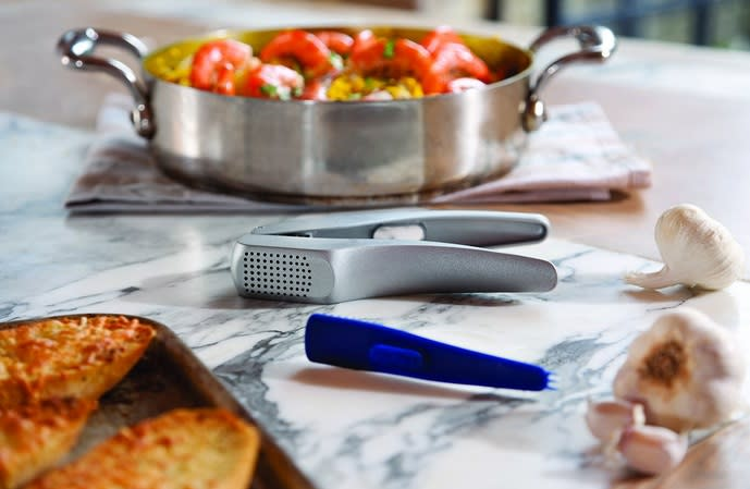 garlic press and other ingredients