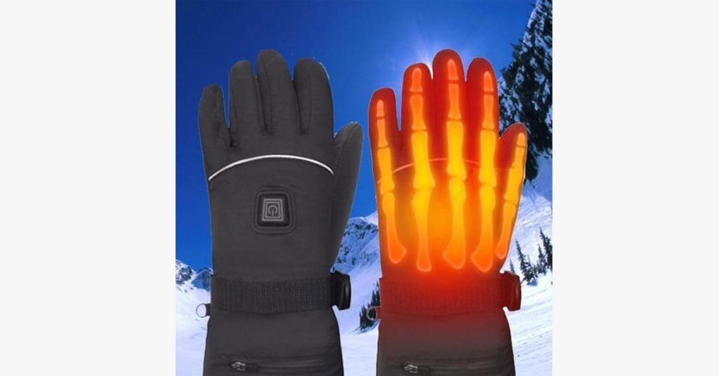 illustration of how heated gloves work