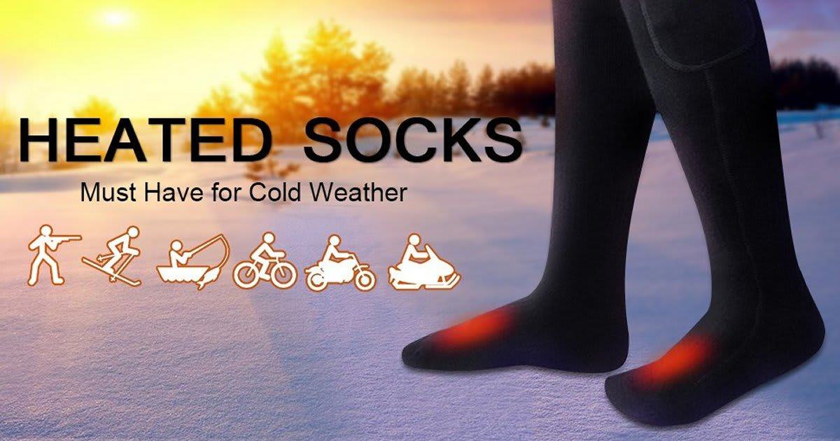 heated socks must have for a cold weather