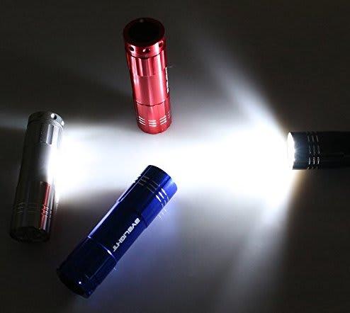turned on flashlights