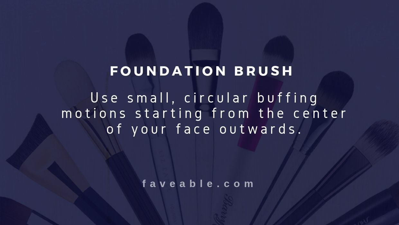 foundation brush instructions