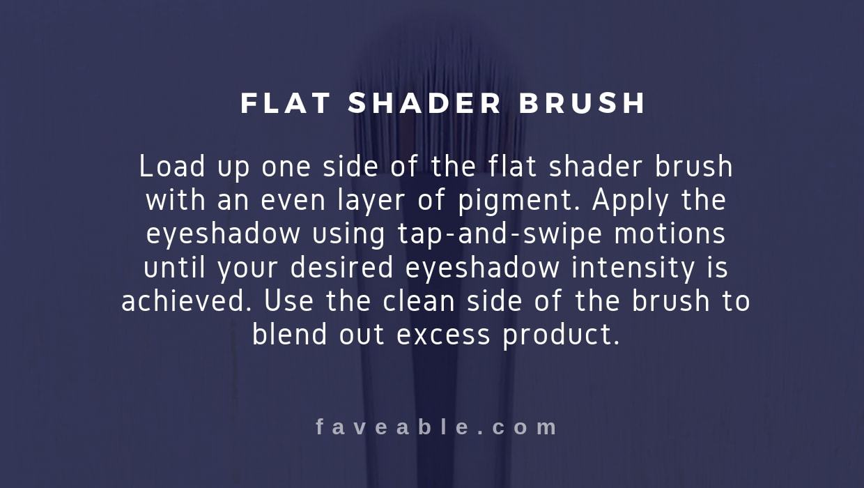 flat shader brush instructions