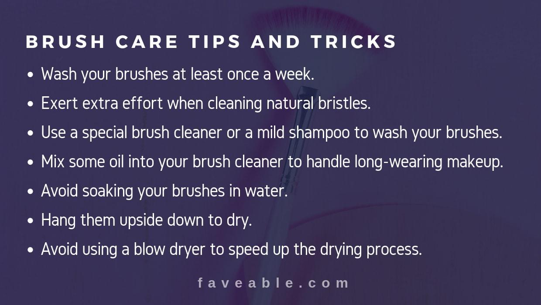 makeup brush care tips and tricks