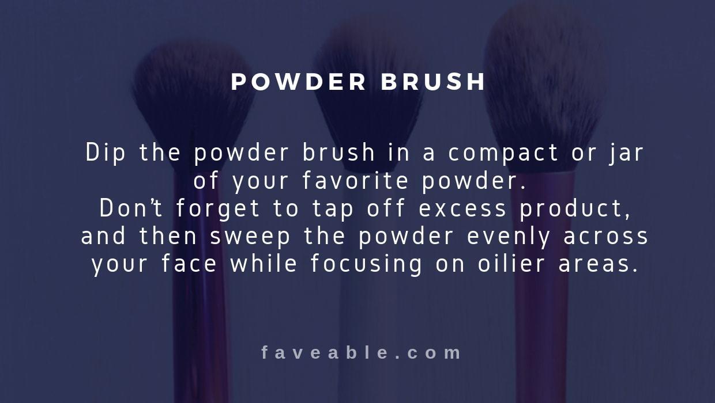 powder brush instructions