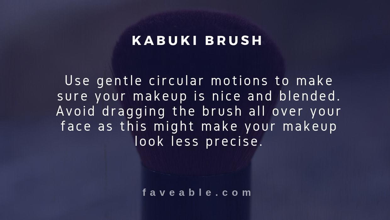 kabuki brush instructions